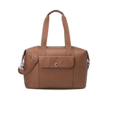 Babymel Changing Bag - Stef Vegan Leather - Tan-Changing Bags- Natural Baby Shower