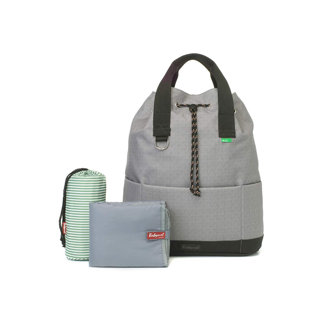 Babymel Changing Bag - Top 'n' Tail Eco - Grey-Changing Bags- Natural Baby Shower