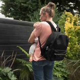 Babymel Luna Ultra Lite Changing Bag - Black Scuba-Changing Bags- Natural Baby Shower