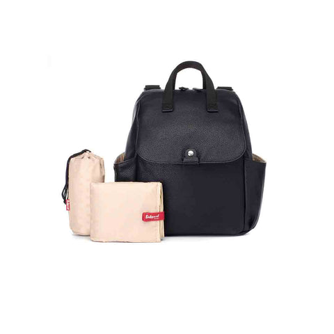 Babymel Robyn PU Changing Bag - Black-Changing Bags- Natural Baby Shower