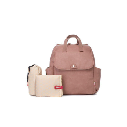 Babymel Robyn PU Changing Bag - Dusky Pink-Changing Bags- Natural Baby Shower