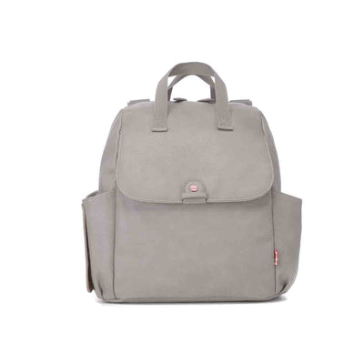 Babymel Robyn PU Changing Bag - Pale Grey-Changing Bags- Natural Baby Shower