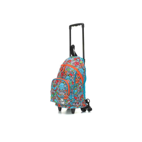 Babymel Zip & Zoe Kids Mini Trolley Bag - Robot Blue-Children's Bags- Natural Baby Shower