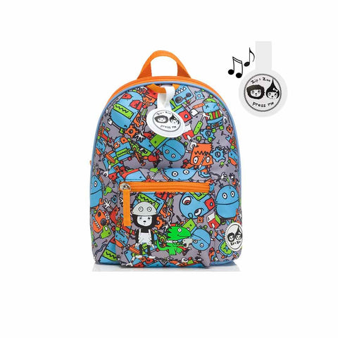 Babymel Zip & Zoe Mini Backpack - Robot Blue-Children's Bags- Natural Baby Shower