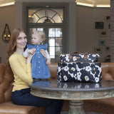 Babymel Changing Bag - Bella - Floral Black Lifestyle