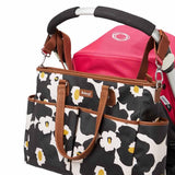 Babymel Changing Bag - Bella - Floral Black Attached
