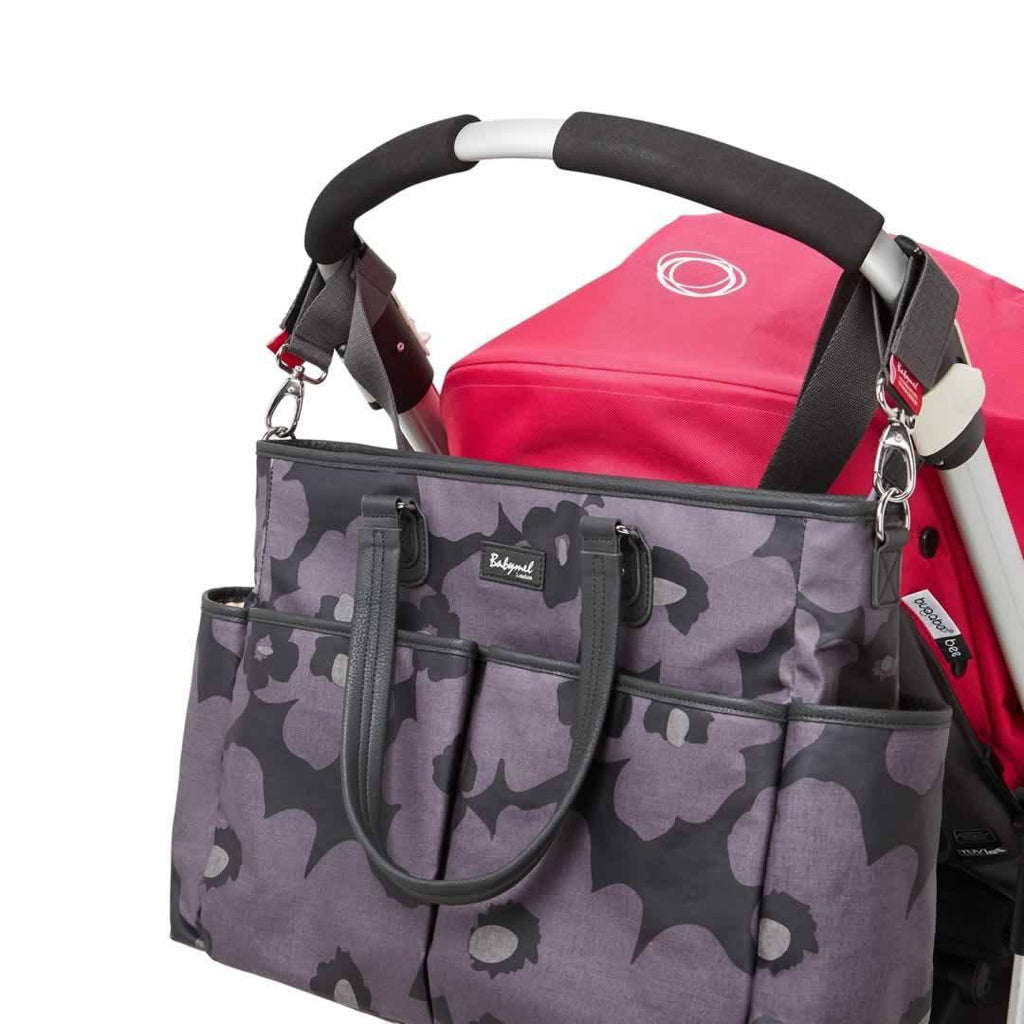 Babymel Changing Bag - Bella - Floral Grey Attached