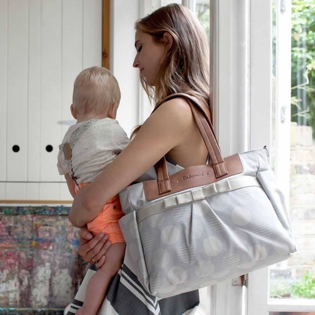 Babymel Cara Changing Bag in Retro Grey Lifestyle