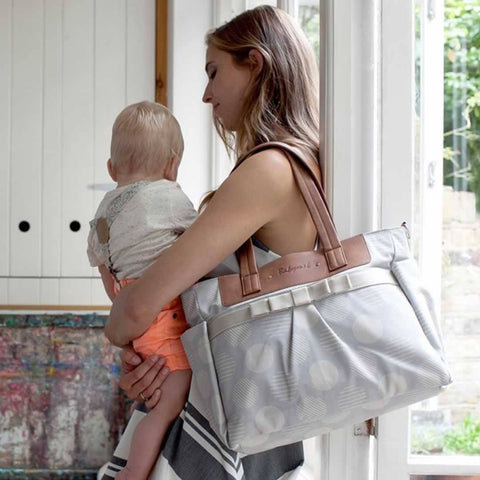 Babymel Changing Bag - Cara - Retro Grey - Changing Bags - Natural Baby Shower