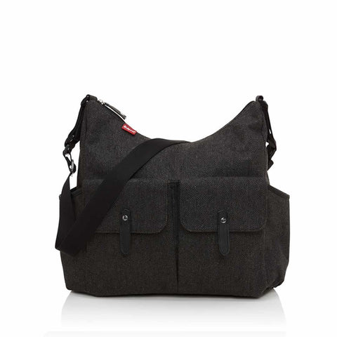 Babymel Changing Bag - Frankie in Tweed Grey