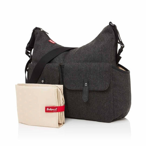 Babymel Changing Bag - Frankie - Tweed Grey - Changing Bags - Natural Baby Shower