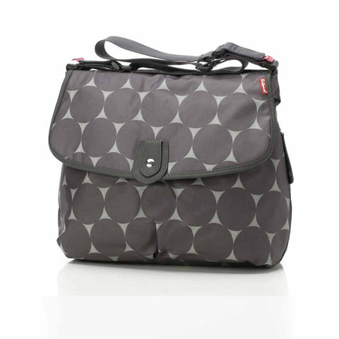 Babymel Changing Bag - Satchel in Jumbo Dot Grey