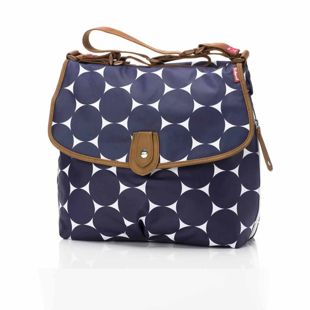Babymel Changing Bag - Satchel - Jumbo Dot Navy - Changing Bags - Natural Baby Shower