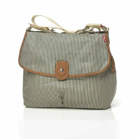 Babymel Changing Bag - Satchel in Stripe Navy