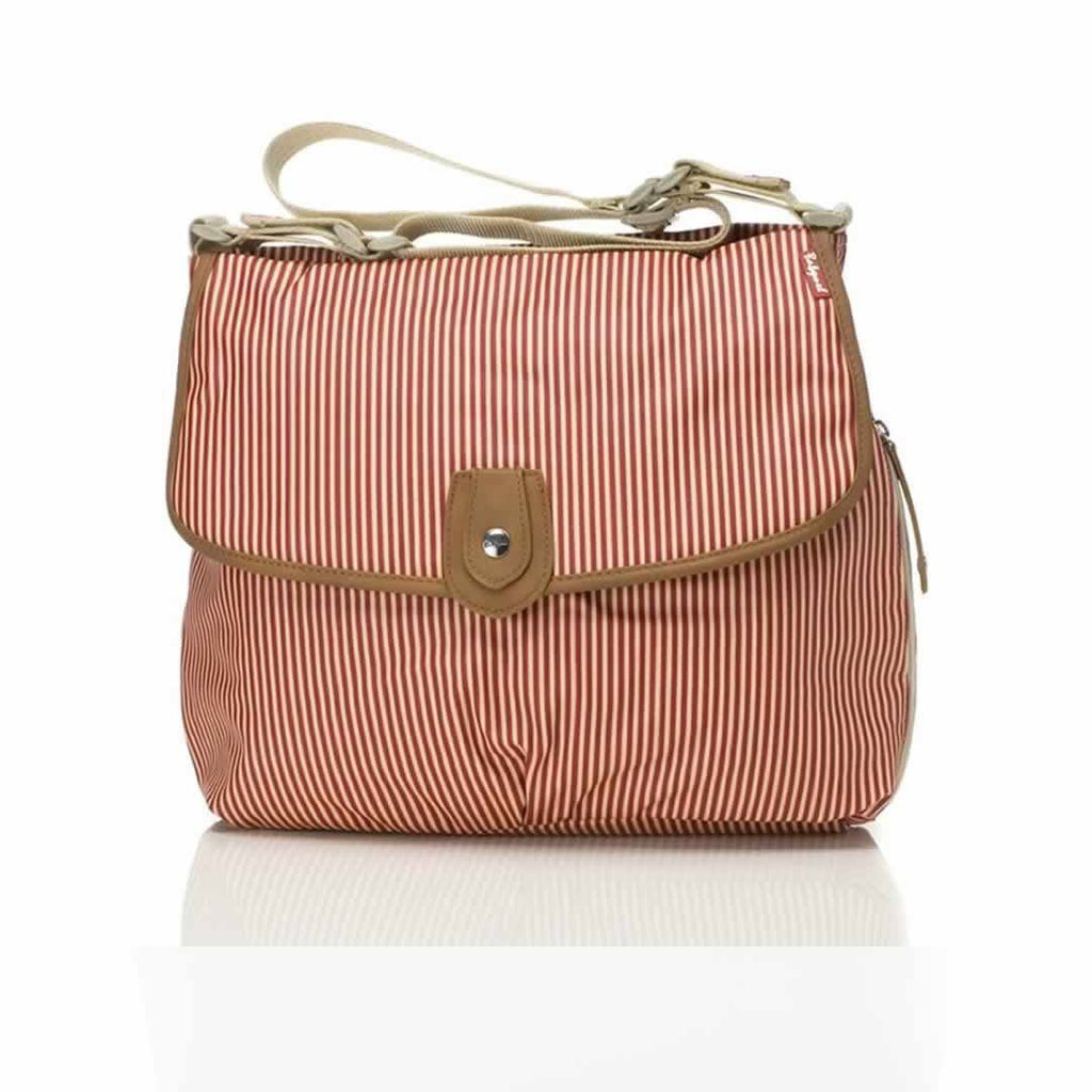 Babymel Changing Bag - Satchel in Stripe Red