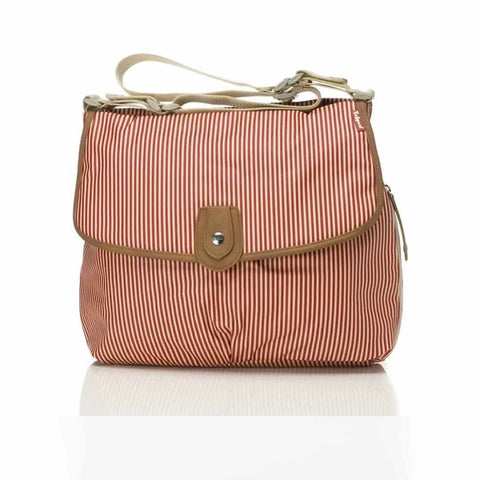 Babymel Changing Bag - Satchel - Stripe Red - Changing Bags - Natural Baby Shower