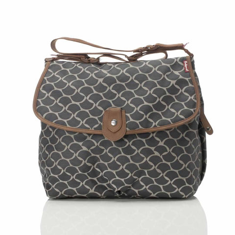 Babymel Satchel Changing Bag in Wave Elephant Grey