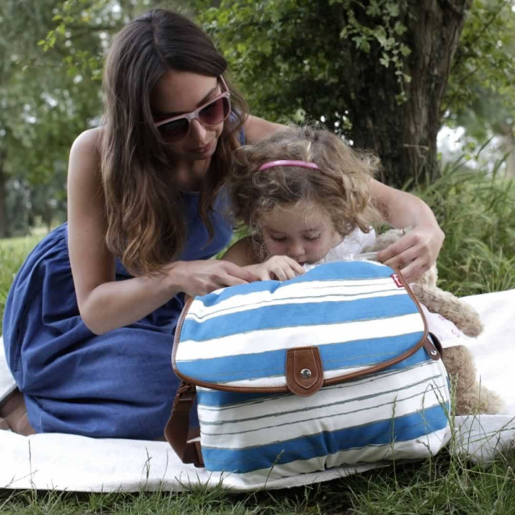 Babymel Changing Bag - Satchel - Boathouse Teal - Changing Bags - Natural Baby Shower