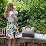 Babymel Changing Bag Millie in Fawn Lifestyle