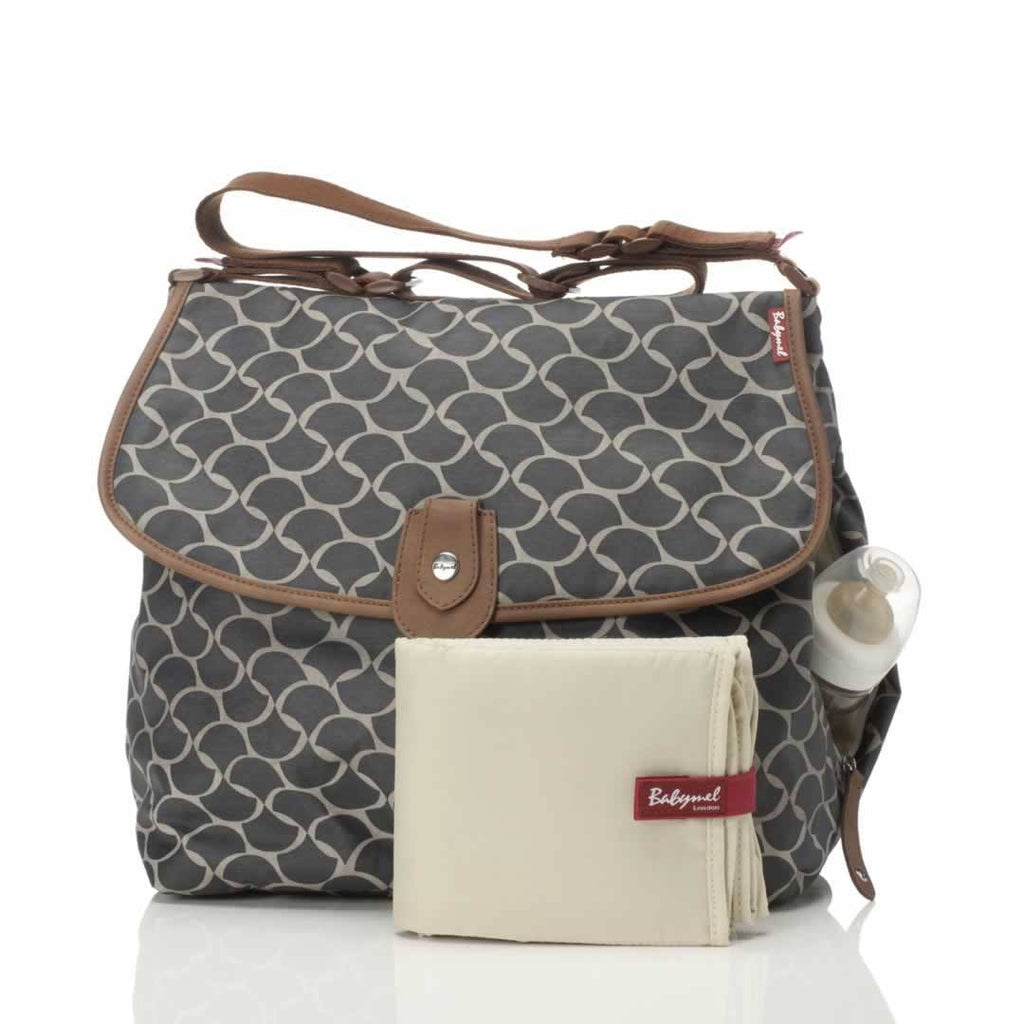 Babymel Changing Bag - Satchel - Wave Elephant Grey - Changing Bags - Natural Baby Shower