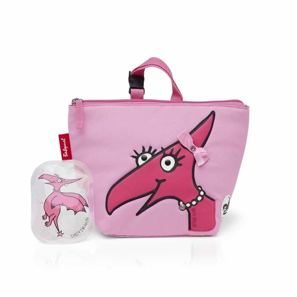 Babymel Insulated Lunch Bag - Zip & Zoe - Daisy Dragon Face Front