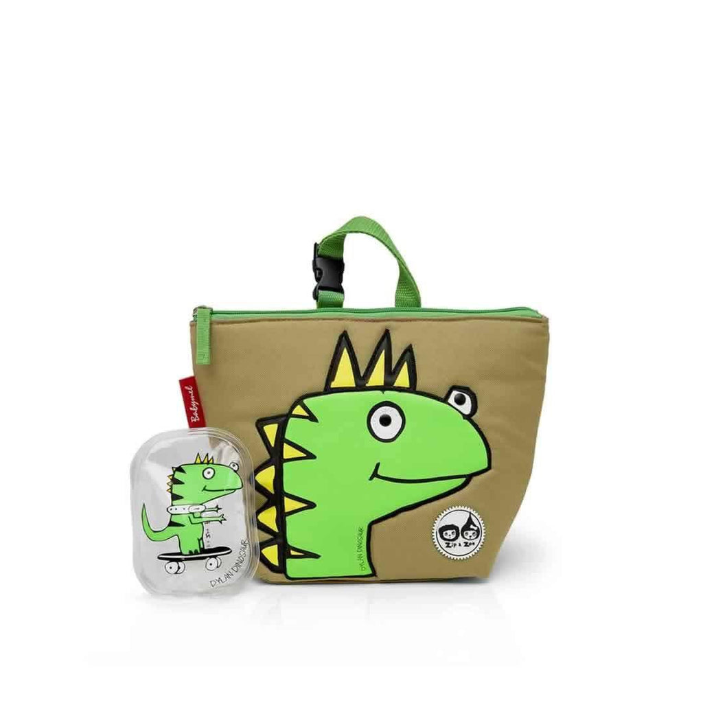 Babymel Insulated Lunch Bag - Zip & Zoe - Dylan Dino Face - Children's Bags - Natural Baby Shower