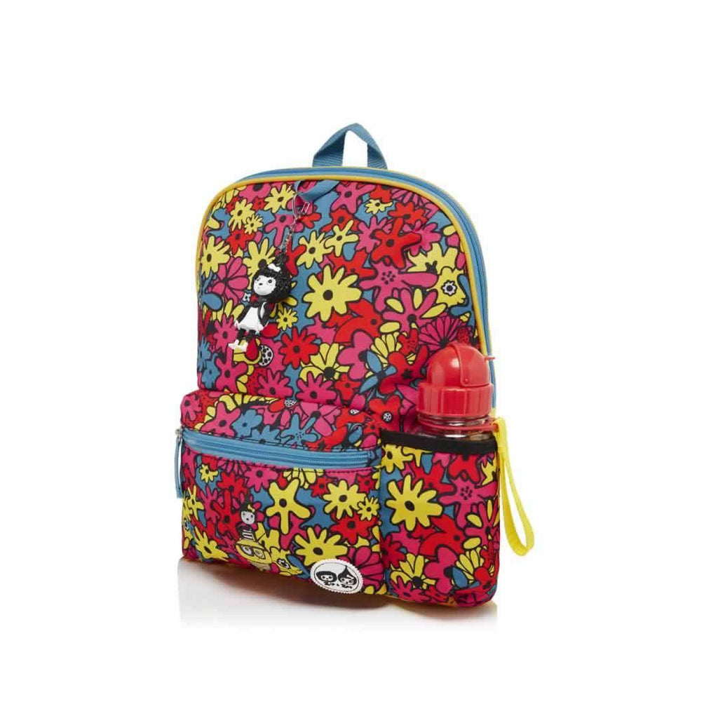 Babymel Kid's Backpack - Zip & Zoe - Floral Brights Side