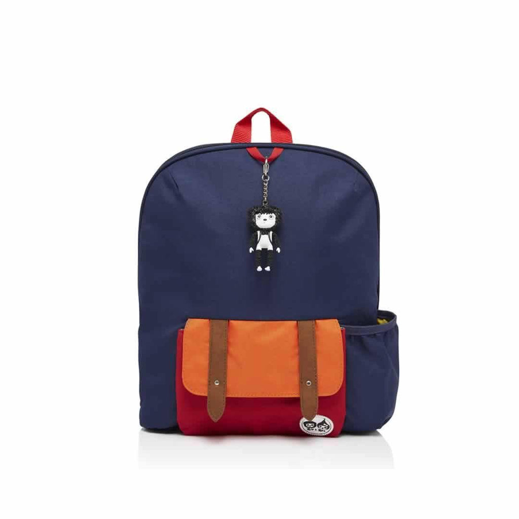 Babymel Kid's Backpack - Zip & Zoe in Navy Colour Block