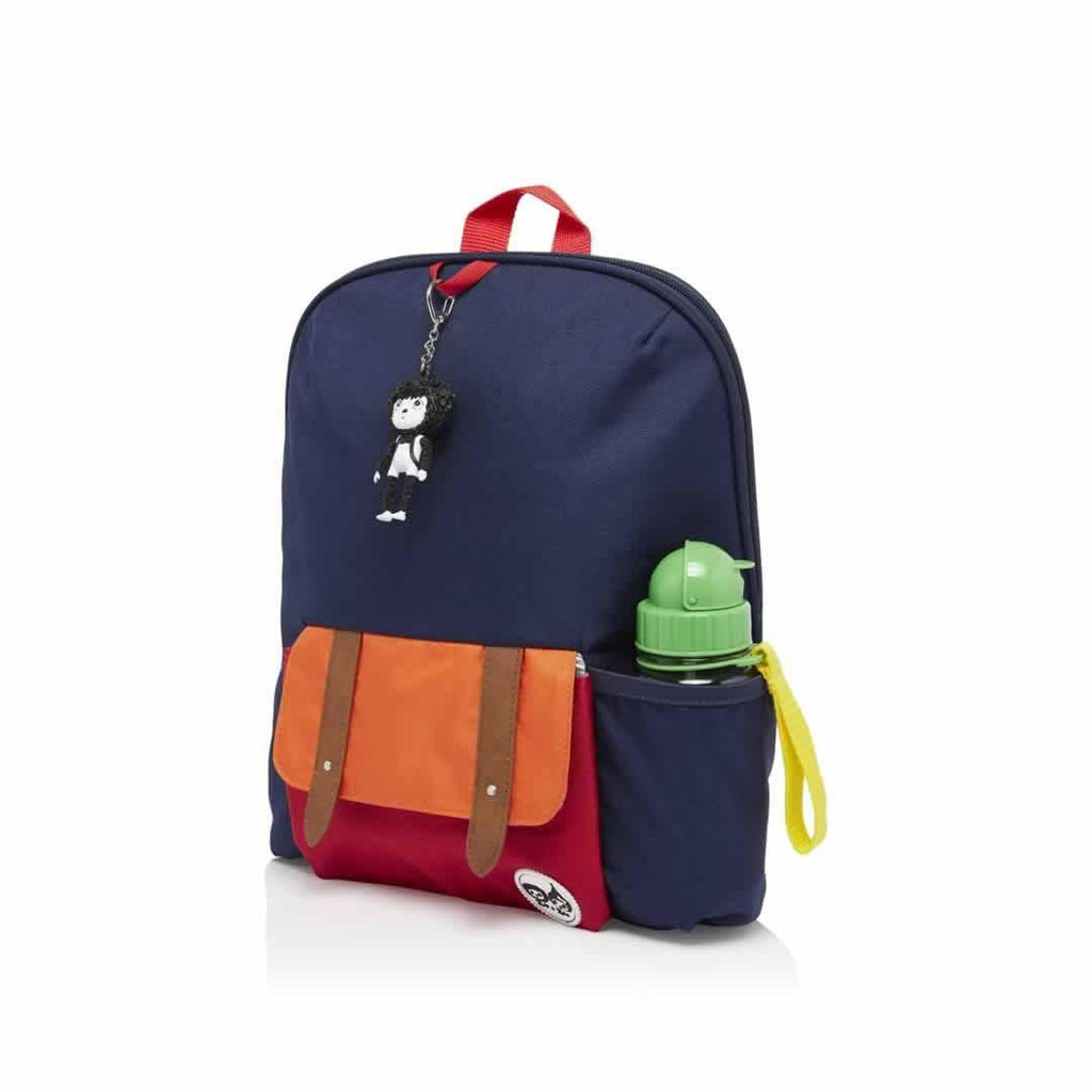 Babymel Kid's Backpack - Zip & Zoe - Navy Colour Block Side