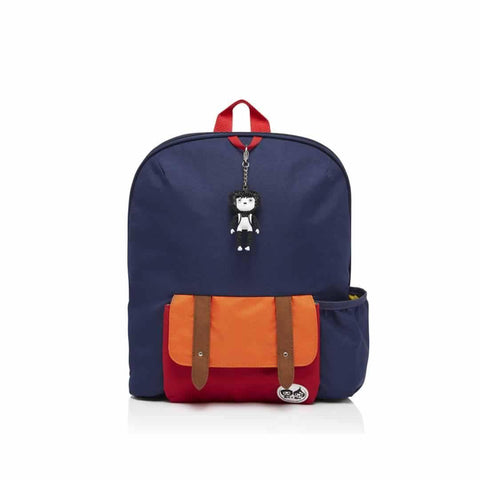 Babymel Kid's Backpack - Zip & Zoe - Navy Colour Block - Children's Bags - Natural Baby Shower