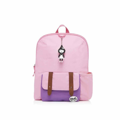 Babymel Kid's Backpack - Zip & Zoe in Pink Colour Block