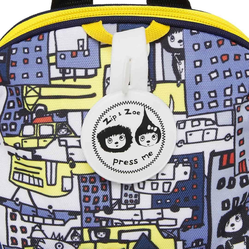 Babymel Mini Backpack - Zip & Zoe - City Print Detail