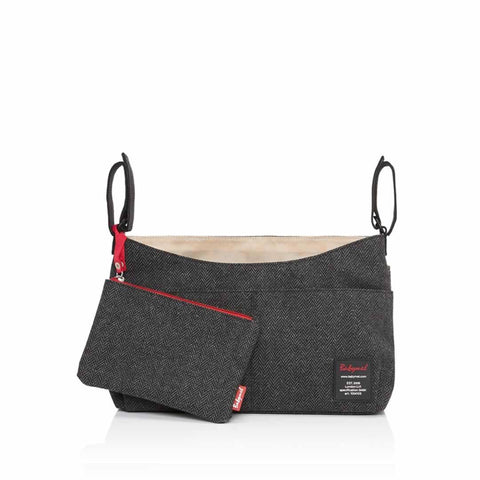 Babymel Stroller Organiser in Grey Tweed