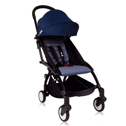 BABYZEN YOYO+ 6+ Stroller - Black with Air France Blue-Strollers- Natural Baby Shower