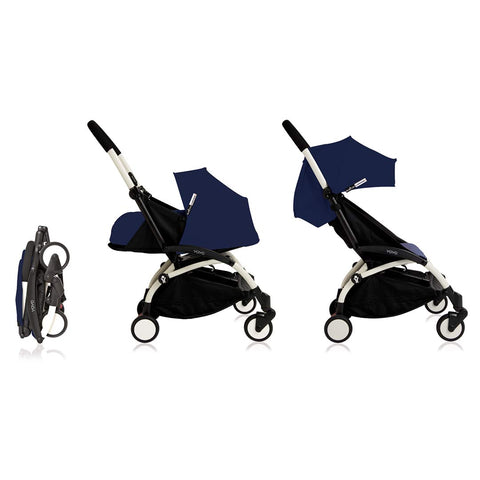 Babyzen YoYo Plus Complete Stroller - White with Air France Blue