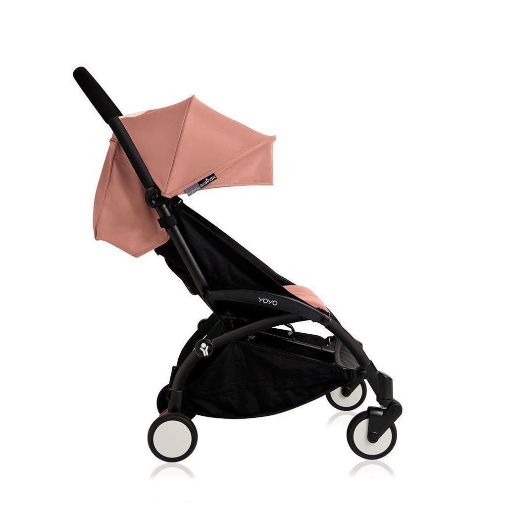 BABYZEN YOYO+ 6+ Stroller - Black with Ginger-Strollers- Natural Baby Shower