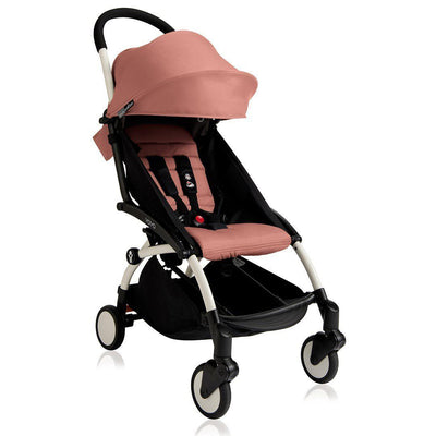 BABYZEN YOYO+ 6+ Stroller - White with Ginger-Strollers- Natural Baby Shower
