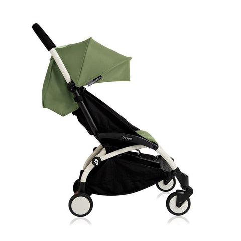 BABYZEN YOYO+ 6+ Stroller - White with Peppermint-Strollers- Natural Baby Shower