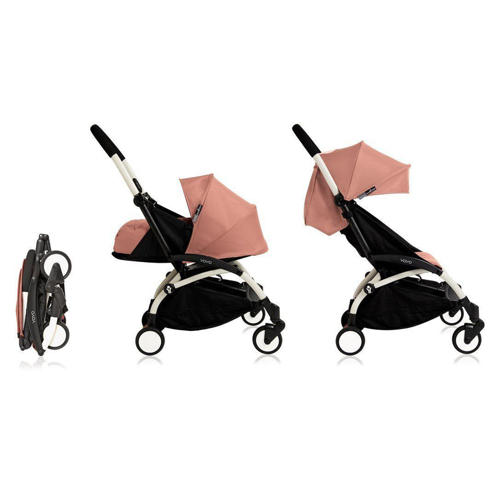 BABYZEN YOYO+ Complete Stroller - White with Ginger-Strollers- Natural Baby Shower