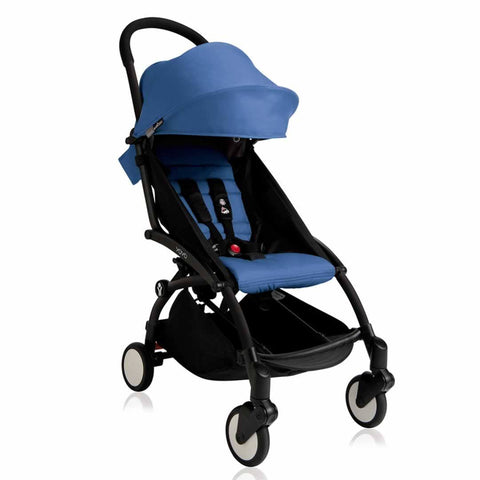 Babyzen YoYo Plus - 6+ Stroller - Black with Blue - Strollers - Natural Baby Shower