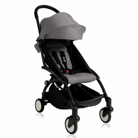 BABYZEN YOYO+ 6+ Stroller - Black with Grey-Strollers- Natural Baby Shower