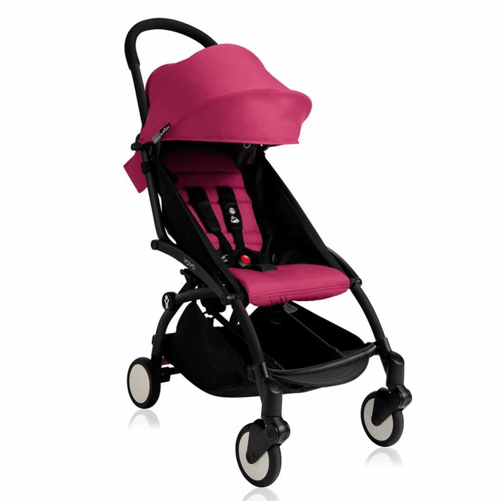 Babyzen YoYo Plus - 6+ Stroller - Black with Pink - Strollers - Natural Baby Shower