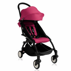 Babyzen YoYo+ - 6+ Stroller in Black with Pink