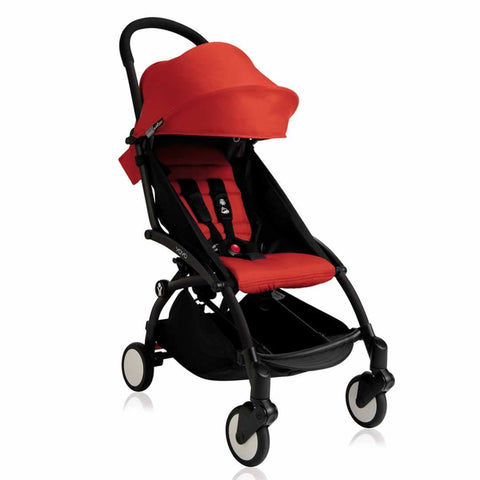 BABYZEN YOYO+ 6+ Stroller - Black with Red-Strollers- Natural Baby Shower