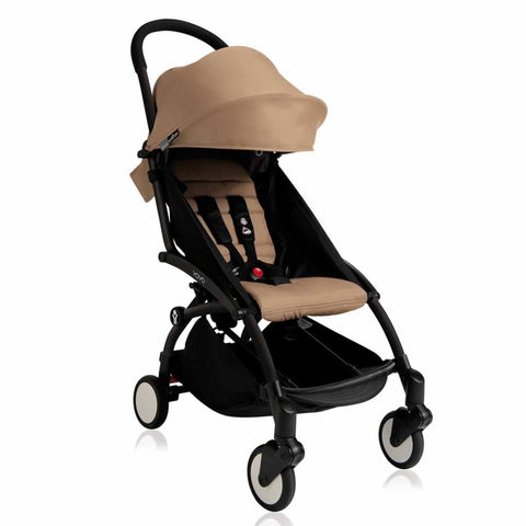 BABYZEN YOYO+ 6+ Stroller - Black with Taupe-Strollers- Natural Baby Shower