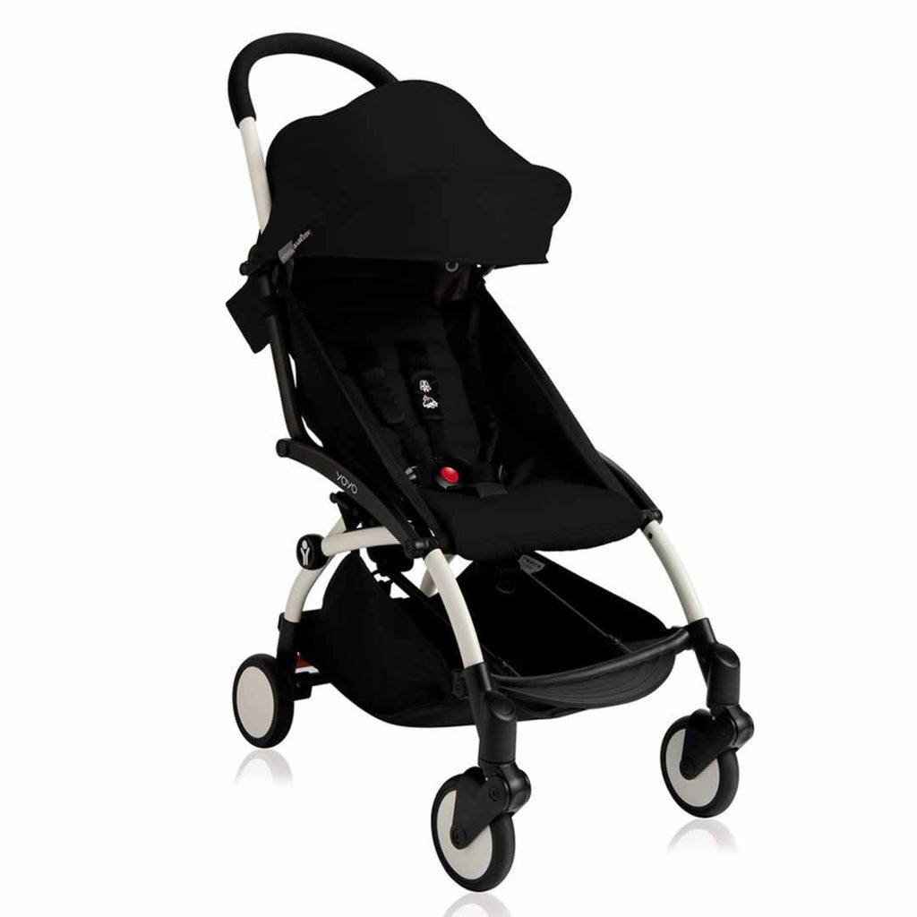 Babyzen YoYo Plus - 6+ Stroller - White with Black - Strollers - Natural Baby Shower
