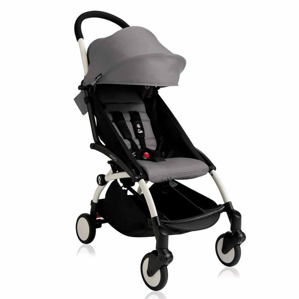 BABYZEN YOYO+ 6+ Stroller - White with Grey-Strollers- Natural Baby Shower