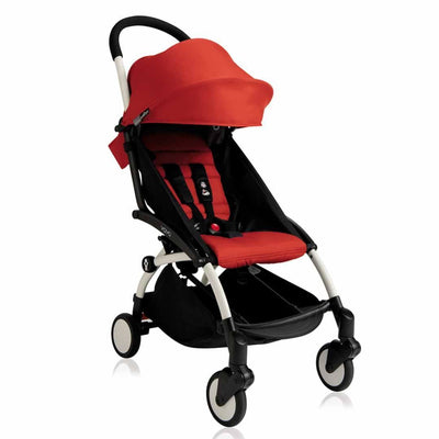 BABYZEN YOYO+ 6+ Stroller - White with Red-Strollers- Natural Baby Shower
