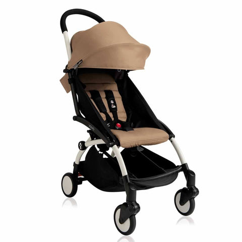 BABYZEN YOYO+ 6+ Stroller - White with Taupe-Strollers- Natural Baby Shower