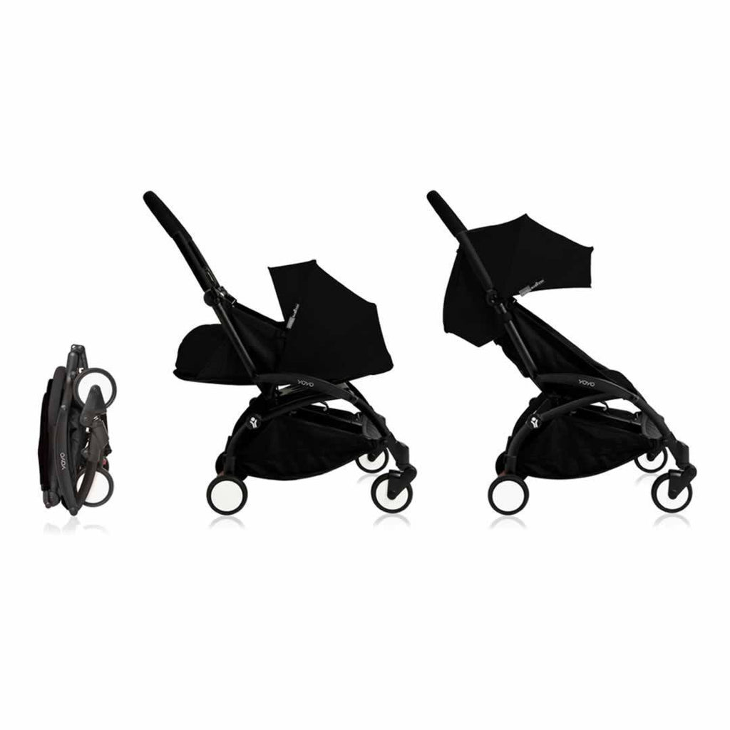 Babyzen YoYo+ Complete Stroller in Black with Black
